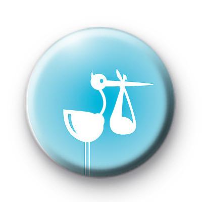 Blue Stork Baby Boy badge