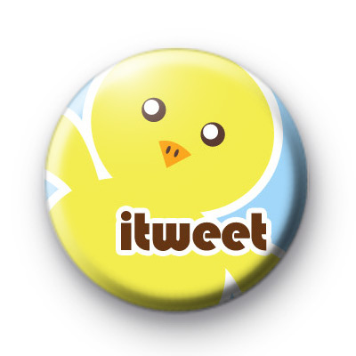 Cute itweet chick button badges