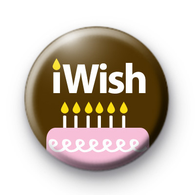 iWish Birthday Cake Badges