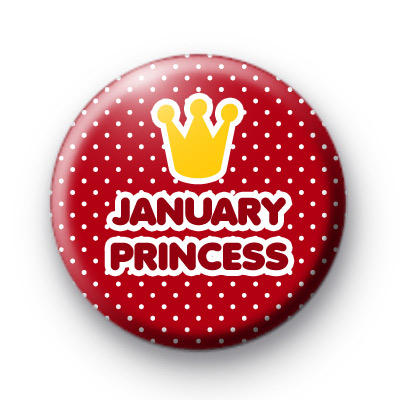 January Princess Badges