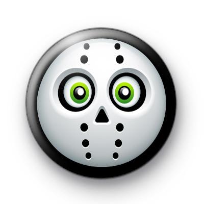 Jason Mask Button Badges