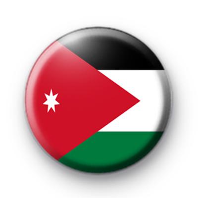 Patriotic National Flag Of Jordan Pin Badges Kool Badges