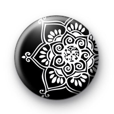 Black and White Kaleidoscope Badge