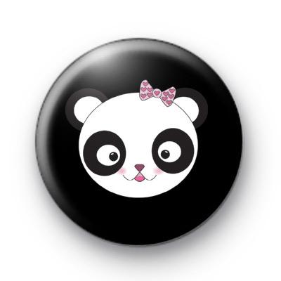 Kawaii Panda Bear Badge