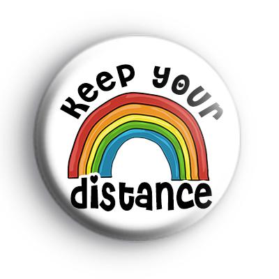 Keep Your Distance Rainbow Badge