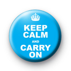 Keep Calm and carry on Blue Badge