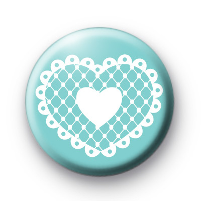Sweet Lace Heart Symbol Button Badges