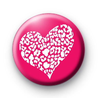Pink and White Lace Heart Badges