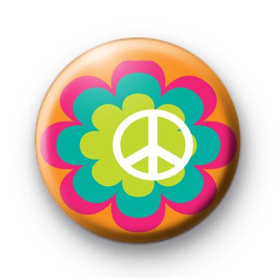 Layered Peace Symbol Badge