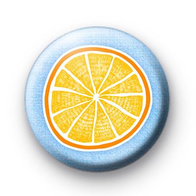 Orange Lemon Fruit Button Badges