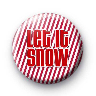 Let It Snow Button Badges Red