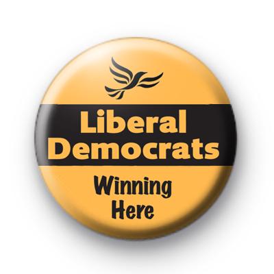 Liberal Democrats Winning Here Badge