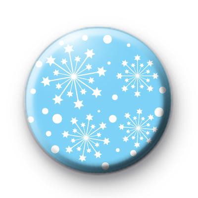 Light Blue Snowflake Burst Badge