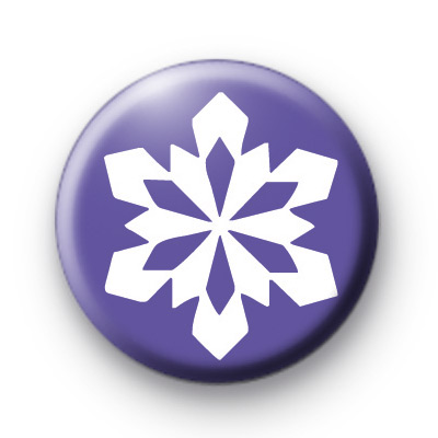 Lilac Ice SnowFlake Button Badge
