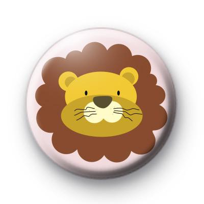 Big Cat Lion Button Badge