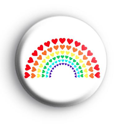 Love Hearts Rainbow Badge