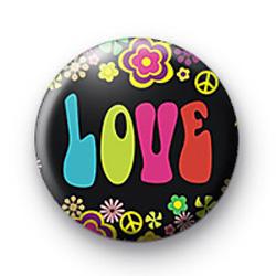 Hippie Love Badge