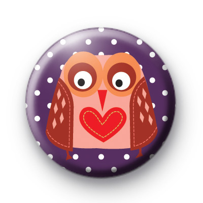 Love Heart Owl Badge