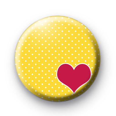 Pink Heart Yellow Badges