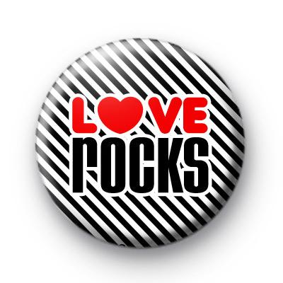 Love Rocks Heart Button Badges
