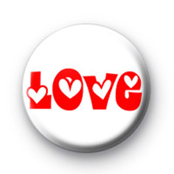 Red and White LOVE Badge