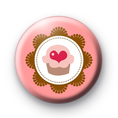 Love is Cupcakes Button Badges