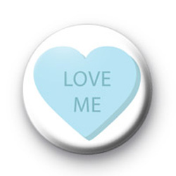 Love Me Candy Heart badges