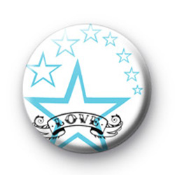 Blue Love Star Badge