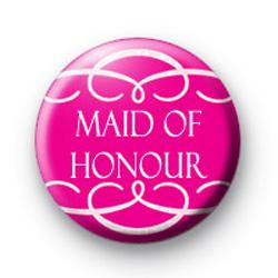 Pink Maid of Honour Swirl Badge