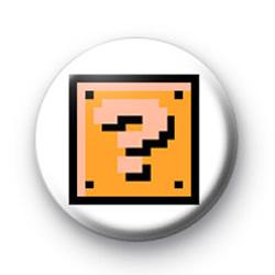 Super Mario Brick Button Badge