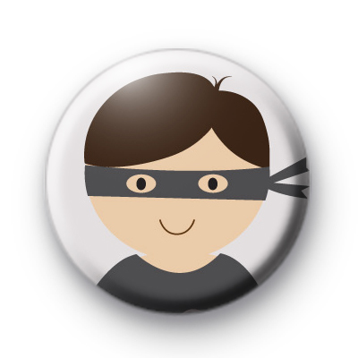 Masked Cute Superhero Badge