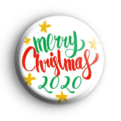 Merry Christmas 2020 Slogan Badge