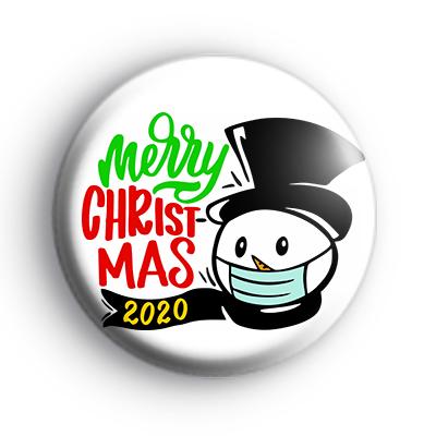 Snowman Merry Christmas 2020 Badge