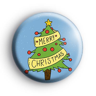 Merry Christmas Banner Xmas Tree Badge