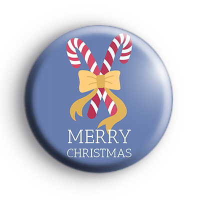 Merry Christmas Candy Cane Badge