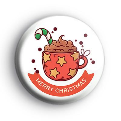 Merry Christmas Hot Chocolate Badge