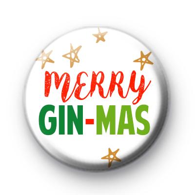 Merry Gin Mas Button Badge