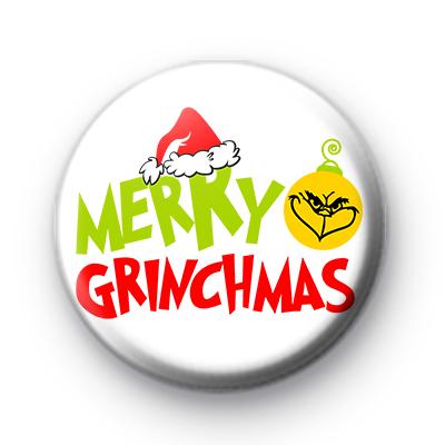 Merry Grinchmas Button Badge