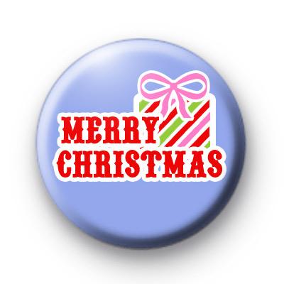 Blue Merry Christmas Present Badges