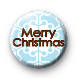Merry Christmas Snowflake badge