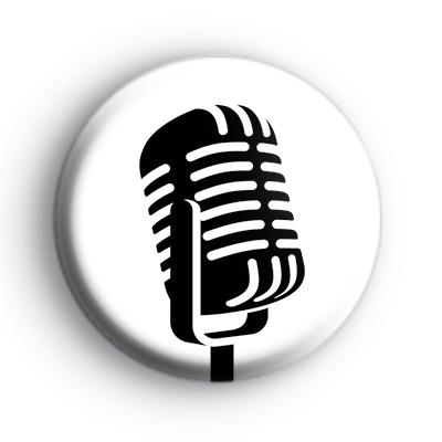 Retro Microphone Badge