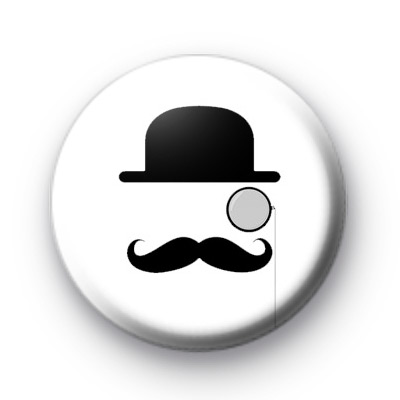 Englishman Movember Pin Badge