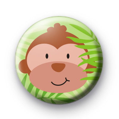 Monkey Madness Button Bagde