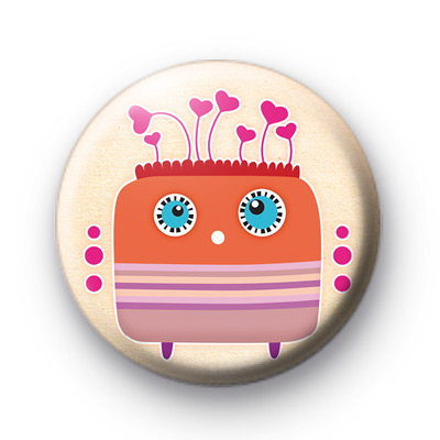 Monster Love Hair Button Badges