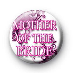 Floral Pink Mother of the Bride Badges