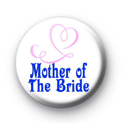 Mother of the Bride Pink Hearts Badge