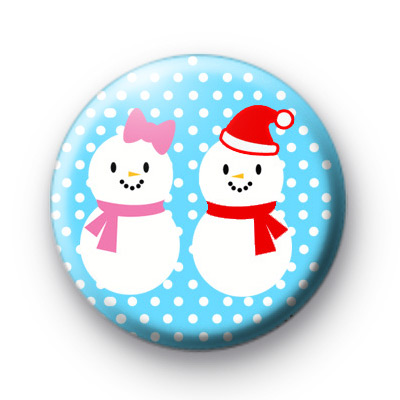Mr and Mrs Snowman Badges