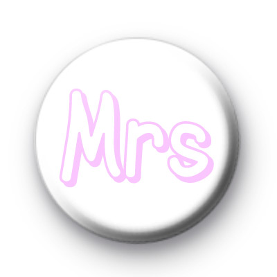 Mrs Wedding Title Badge