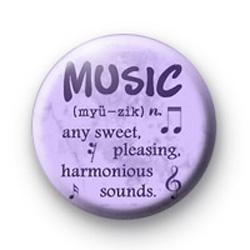 Music definition badge
