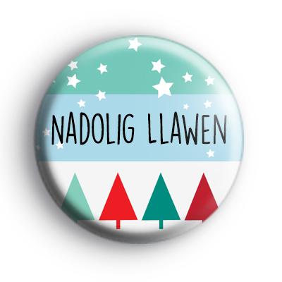 Nadolig Llawen Merry Christmas Welsh Badge